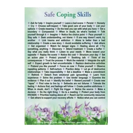 Safe Coping Skills Magnet - Flowers - Free shipping within